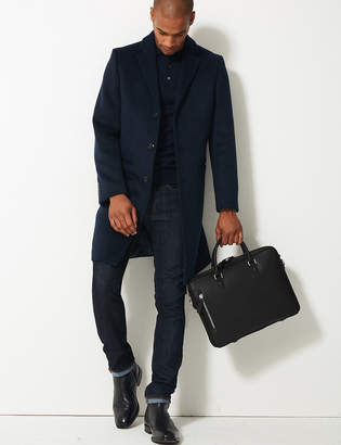 M&S CollectionMarks and Spencer Textured Saffiano Slim Briefcase