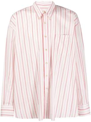 Our Legacy striped oversized shirt