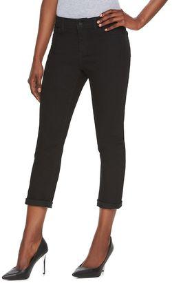 Women's Jennifer Lopez Roll Cuff Capri Jeans $50 thestylecure.com