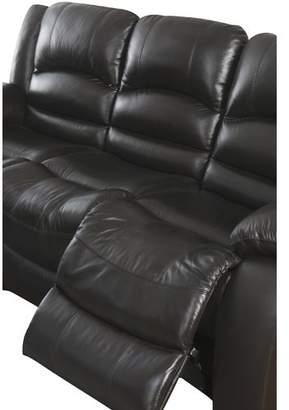 Abbyson Living 3 Piece Genuine Leather Living Room Set