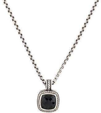 David Yurman Onyx & Diamond Albion Enhancer Pendant Necklace