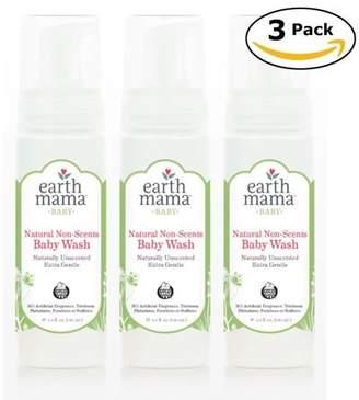 Earth Mama Angel Baby Earth Mama, Angel Baby Wash & Shampoo, Natural Non-scents - 160 ml(5.3 Oz) x 3 Pack (Total 480 ml)