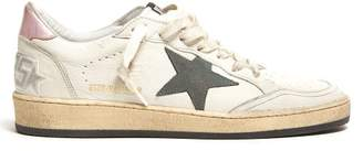 Golden Goose Ball Star Leather Trainers - Womens - Pink White