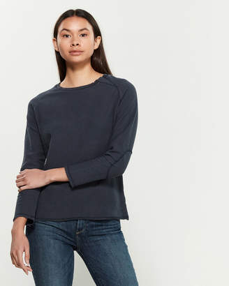 Research Code By Never Enough Navy Brave Dirty Long Sleeve Sweater
