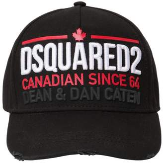 DSQUARED2 Embellished Cotton Canvas Baseball Hat