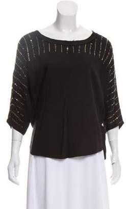 Ella Moss Embellished Dolman Sleeve Blouse