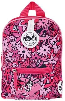 Babymel Zip & Zoe Mini Kids' Backpack & Safety Harness - Floral Pink
