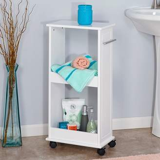 Riverridge Home RiverRidge Home Rolling Side Cabinet with Shelves