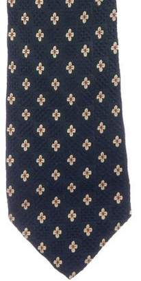 Givenchy Floral Print Silk Tie
