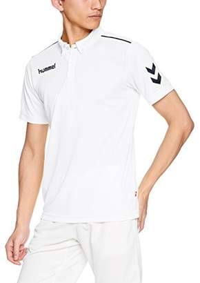 Hummel (ヒュンメル) - (ヒュンメル) hummel サッカーウェア ワンポイントドライポロシャツ HAY2079 [メンズ] HAY2079 1070 ホワイト×ネイビー (1070) S