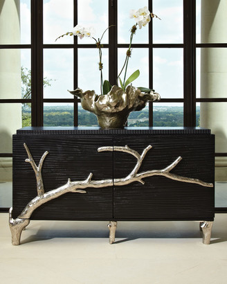 Global Views Silver Branch 2-Door Console