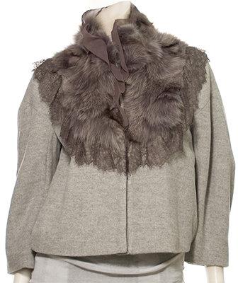 Hanii Y Jacket With Fur Trim