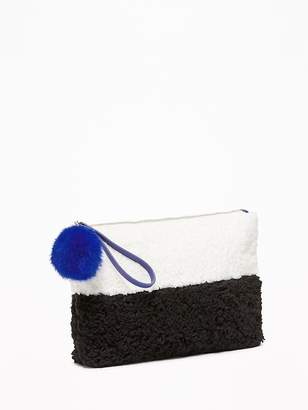Old Navy Two-Tone Sherpa Clutch for Women
