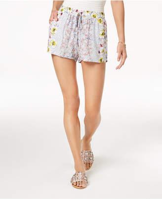 Be Bop Juniors' Soft Floral-Print Shorts