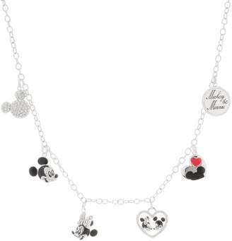 Disney Mickey's 90th Birthday Mickey & Minnie Charm Necklace