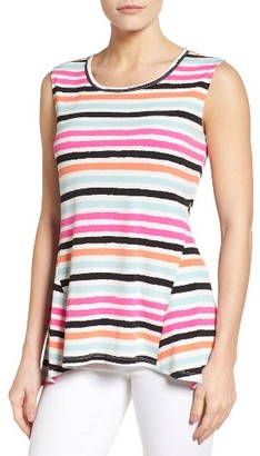 Women's Chaus Wavy Stripe High/low Top $59 thestylecure.com
