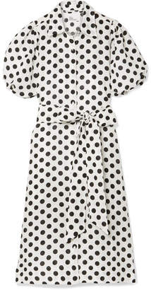Lisa Marie Fernandez Polka-dot Linen Midi Dress
