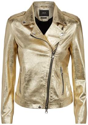 SET Metallic Leather Biker Jacket