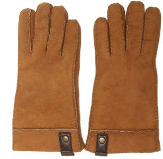 UGG Brown Suede Leather Gloves