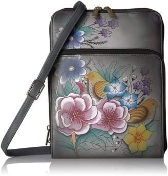 Anuschka Anna By Handpainted Leather Zippered Organiser- Shoulder Bag