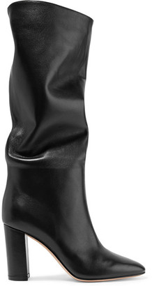 Laura Leather Knee Boots - Black