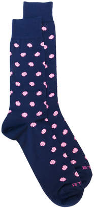 Etro flower motif socks