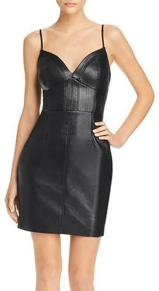 GUESS Adia Bustier Faux Leather Dress
