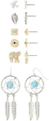JCPenney Decree 6-pr. Multicolor Stone Earring Set