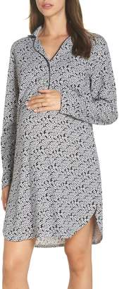 Belabumbum Maternity/Nursing Jersey Nightshirt