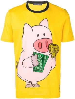 Dolce & Gabbana piggy bank print T-shirt
