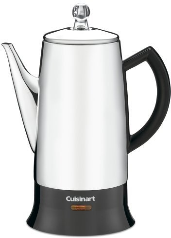 Cuisinart PRC-12 Classic 12 Cup Percolator, Stainless/ Black