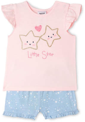 Sprout NEW Girls Essential Pyjama Set Lt Pink
