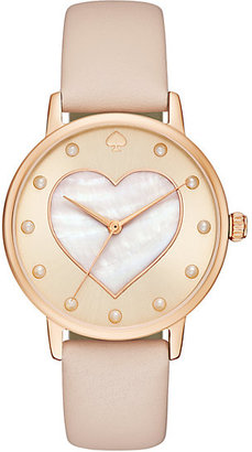 Vachetta heart metro watch $195 thestylecure.com
