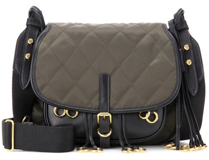 prada Prada Corsaire Quilted Fabric Crossbody Bag