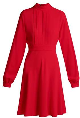 Giambattista Valli Keyhole Slit Bodice Crepe Mini Dress - Womens - Red
