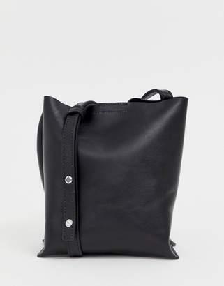 French Connection Seda leather tote handbag