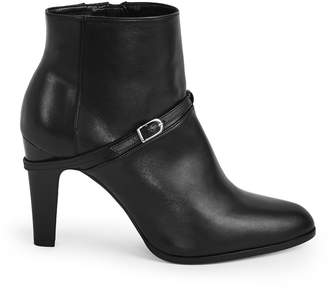 Reiss OPHELIA BUCKLE DETAIL ANKLE BOOTS Black