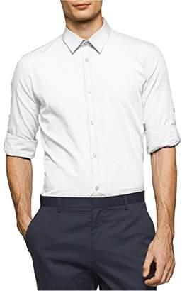 Calvin Klein Men's Long Sleeve Roll Tab Button Down Shirt