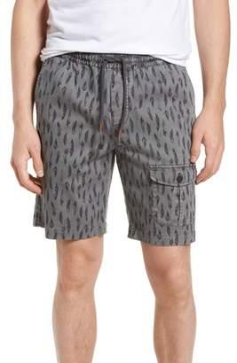 Michael Bastian Garment Dyed Print Pocket Shorts