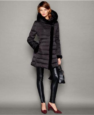 The Fur Vault Beaver-Fur-Trim Puffer Coat $995 thestylecure.com