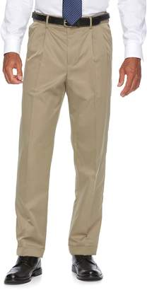 Croft & Barrow Men's Classic-Fit No-Iron Performance Khaki Pleated Casual Cuffed Pants
