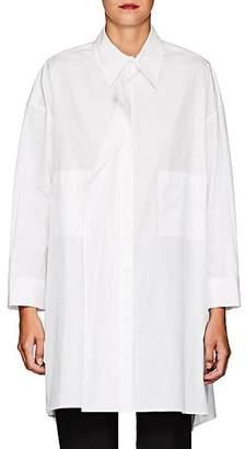 Yohji Yamamoto Women's Cotton Poplin Swing Blouse - White