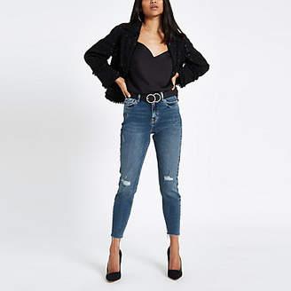 River Island Petite blue Original mid rise skinny jeans