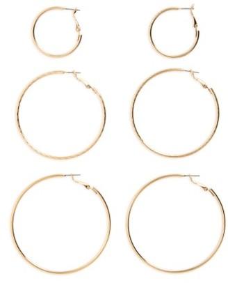 Women's Bp. 3-Pack Hoop Earrings $16 thestylecure.com