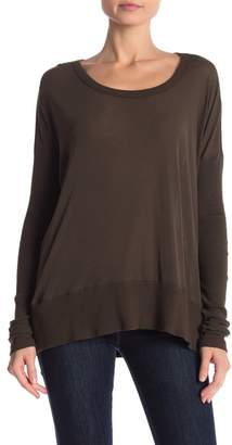 James Perse Contrast Rib Pullover