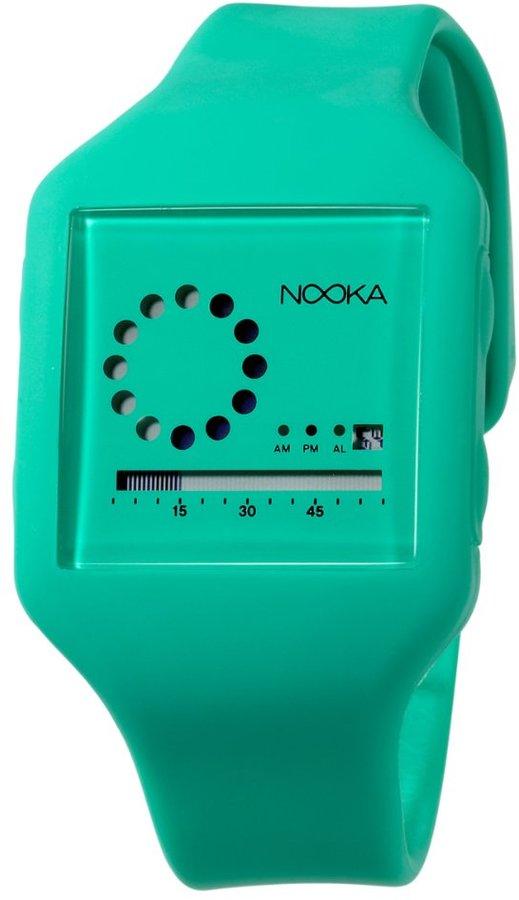 Nooka Unisex ZUB-ZIRC-NG-20 Zub Zirc Neon Green PolyurethaneWatch