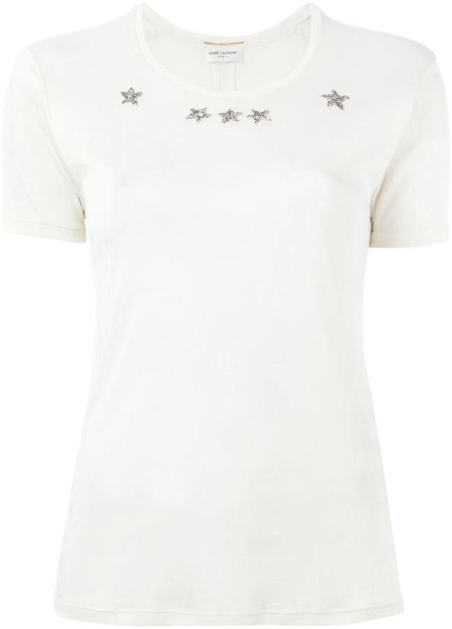 Saint LaurentSaint Laurent beaded star T-shirt