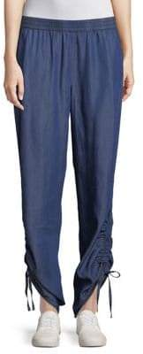 Halston H Ruched Side Pants