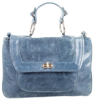Rebecca Minkoff Distressed Leather Satchel $145 thestylecure.com