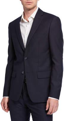 DKNY Men's Slim-Fit Striped Wool Suit